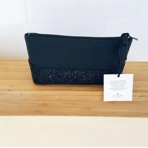 kate spade Bags - NWT KATE SPADE BLACK GLITTER PURSE BAG ETC